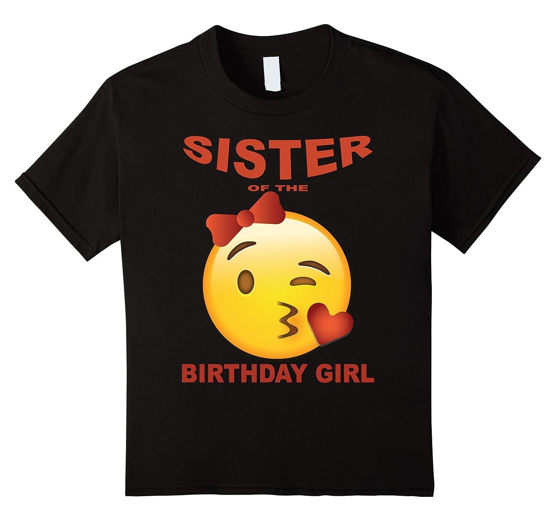 Sister Birthday emoji shirt Heart-Xalozy