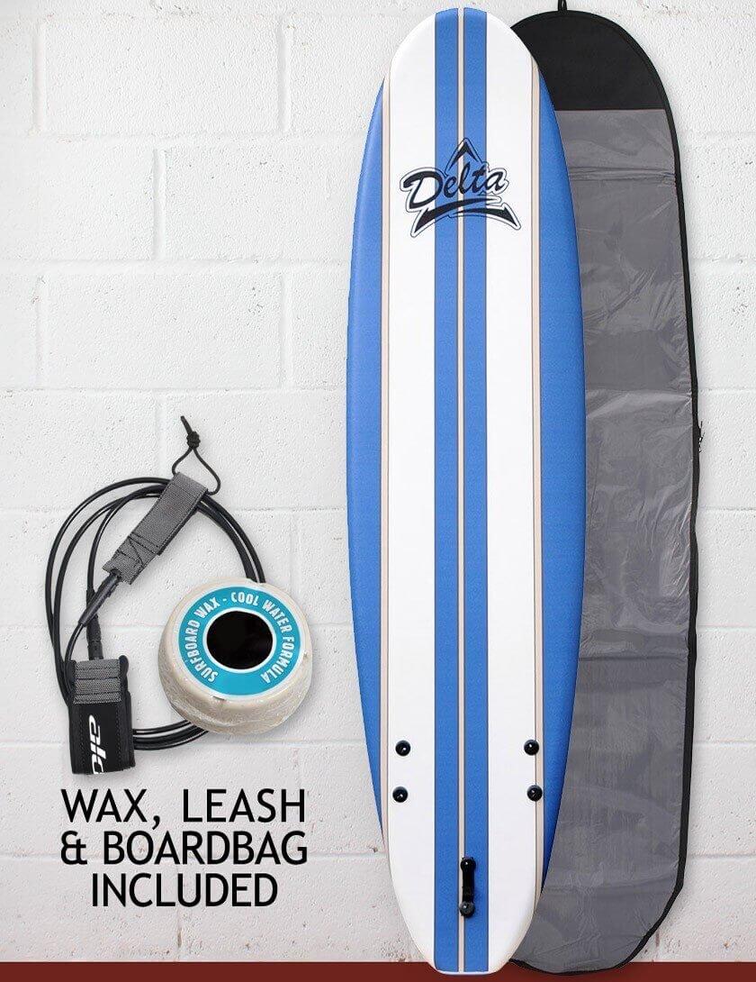 Espuma de Alder Delta - Tabla de surf tabla de surf Kids Paquete 6 ft - Rayas de color azul: Amazon.es: Deportes y aire libre