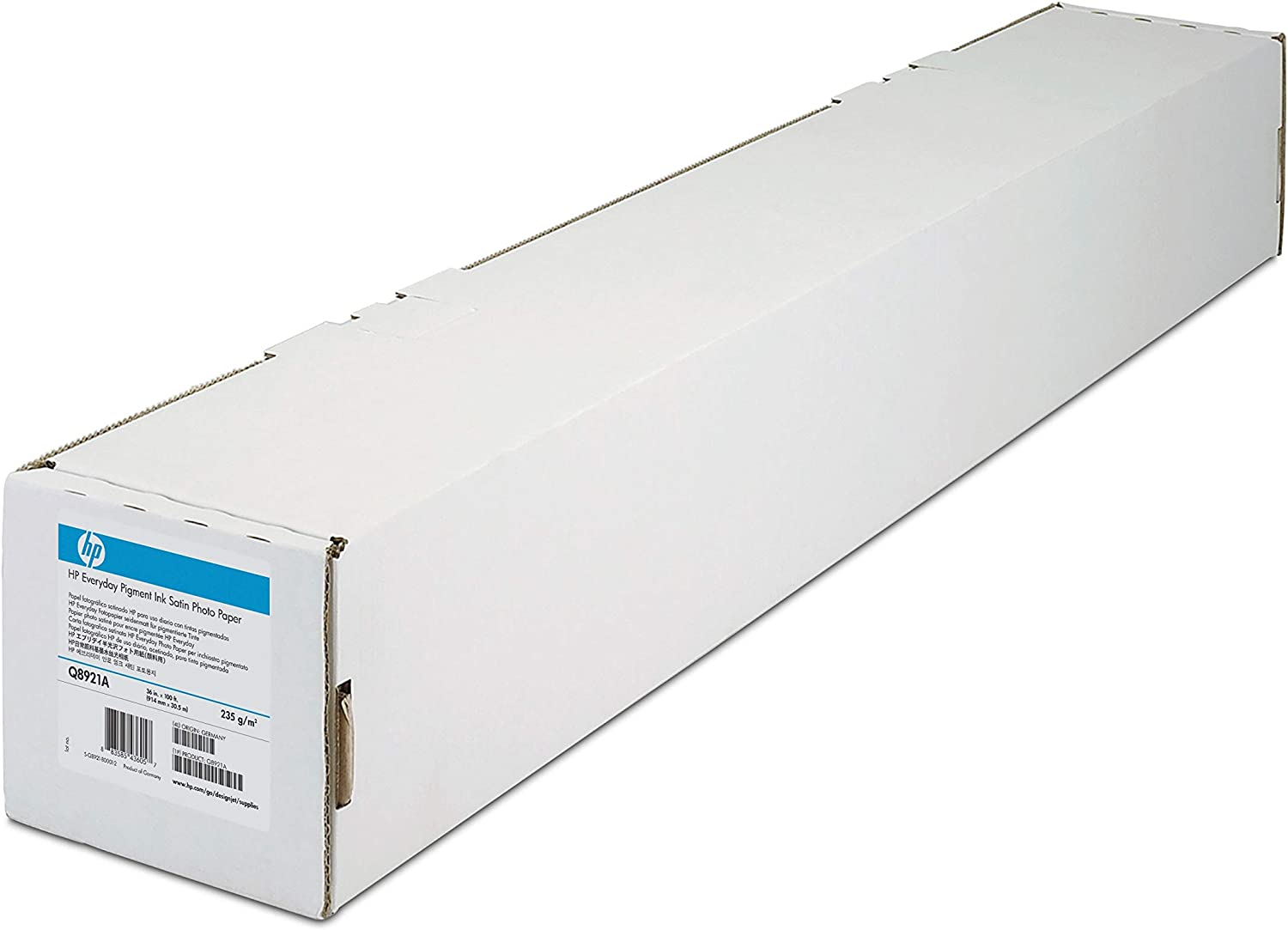 HP Universal Satin Photo Paper, 7.4 ml, 89 Bright (36 x 100' Roll) - TAA Compliance