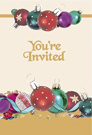 8x christmas party invitations with envelopes you re invited