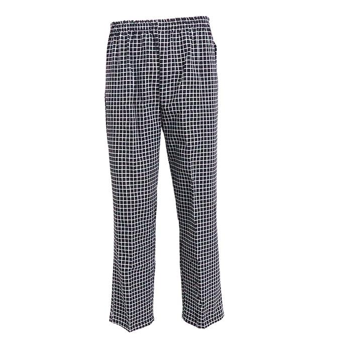 Pantaloni Comodi Da Elastici Cuoco Lavoro Uniforme Indumenti Homyl dRq8R