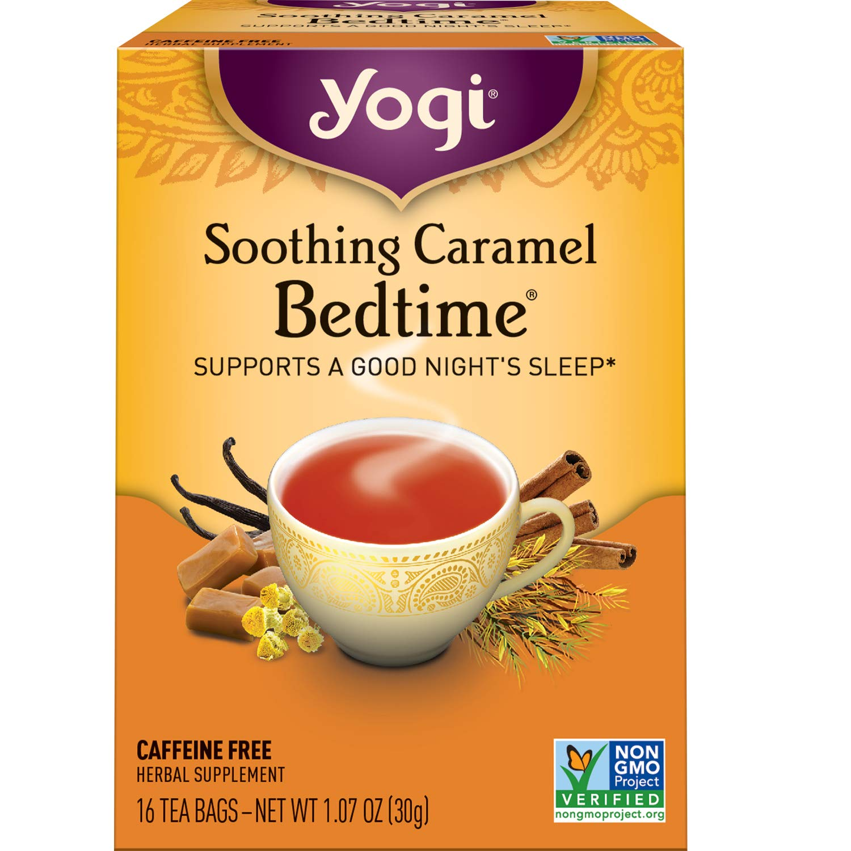 Yogi Tea - Soothing Caramel Bedtime (6 Pack) - Supports a Good Night's Sleep - 96 Tea Bags