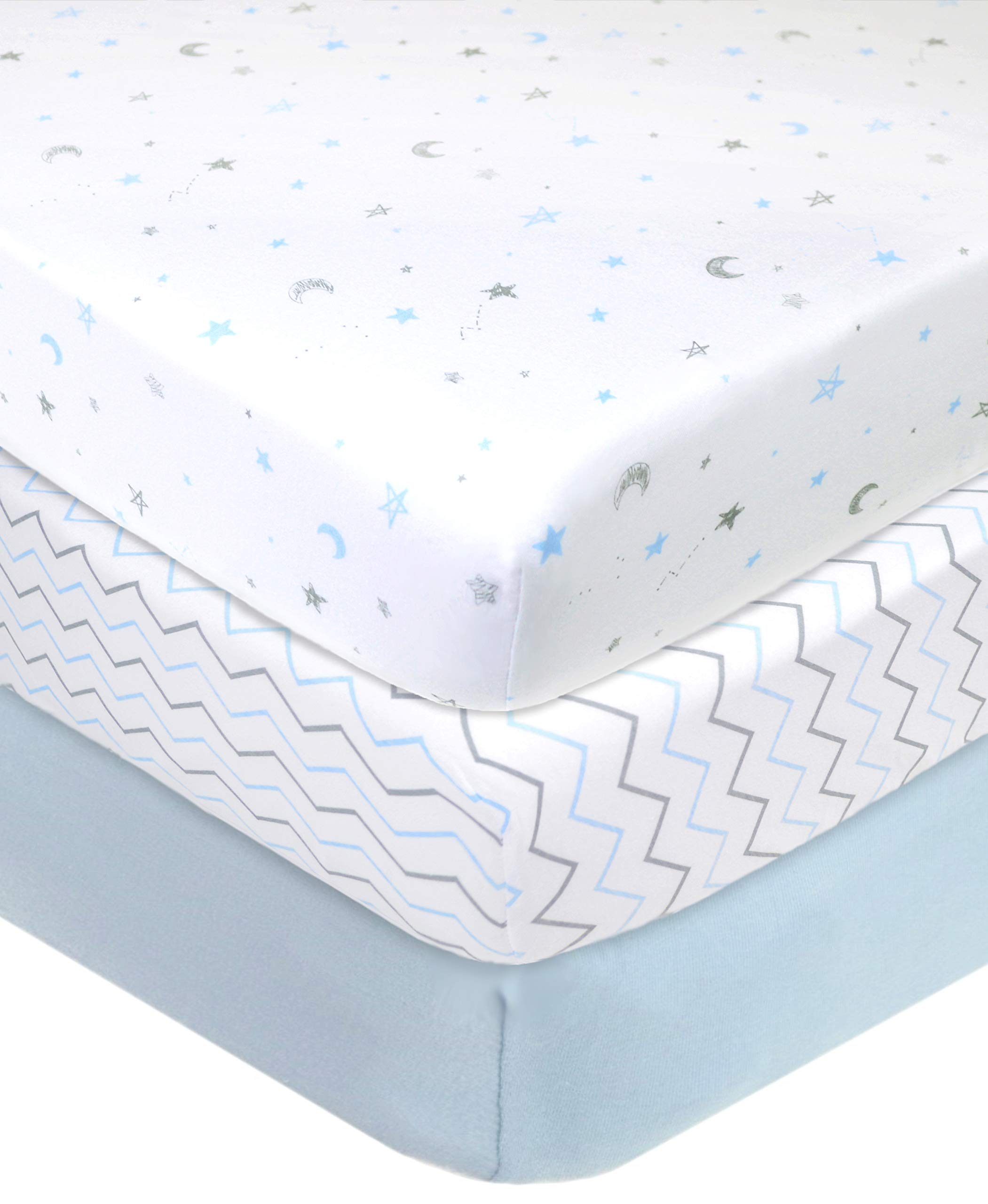for Boys /& Girls Soft Breathable American Baby Company 4 Pack 100/% Natural Cotton Jersey Knit Fitted Bassinet Sheet,/Ecru