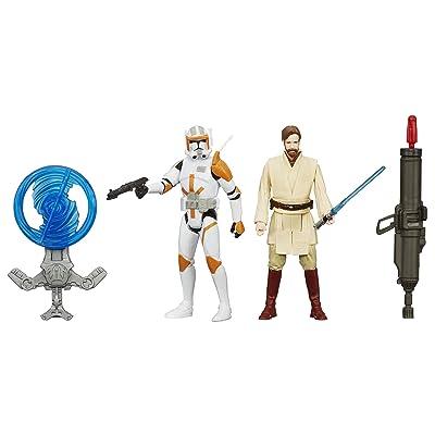 Star Wars Revenge of the Sith 3.75-Inch Figure 2-Pack Desert Mission Obi-Wan Kenobi and Commander Cody