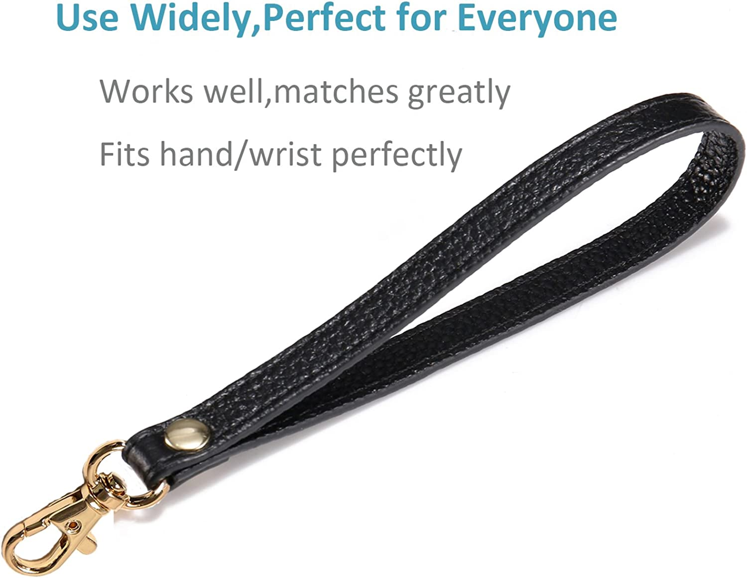 Leather Wristlet Strap Genuine Leather Hand Strap for Wallet Purse Cellphone Clutch Wristlet UTreers Wristlet Strap Keychain