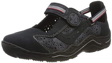 Rieker Damen Sneaker blau L0557 14