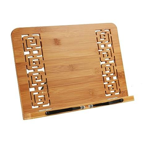REAYOU leggio in bambù, leggio da tavolo leggio per ricettari e ...