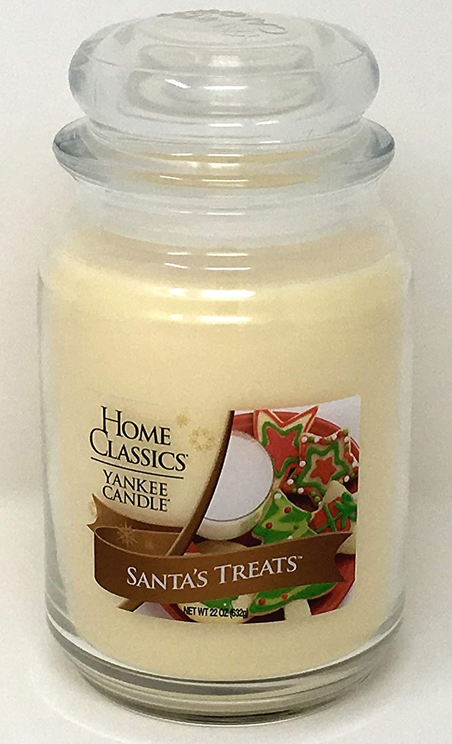 Yankee Candle Home Classics Holiday Santa's Treats Large Single Wick Jar Candle