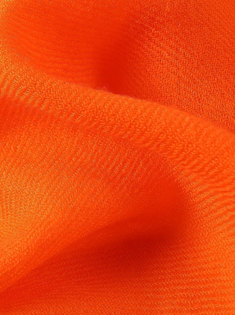 Prettystern donne Sciarpa lana fibre twill XL 210cm frange corte tinta unita lunga pashmina stola