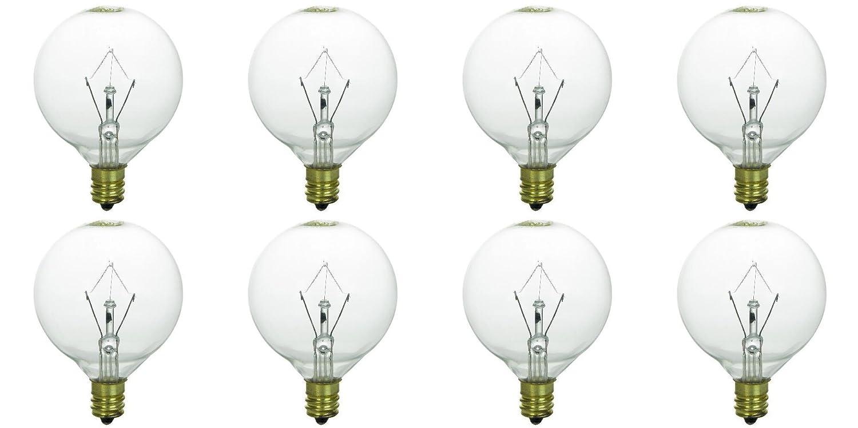 KE-25WLITE Extra Long Life 25W 120 Volt Pack of 8 Memotronics 25 Watt Bulbs for Scentsy Full-Size Warmers