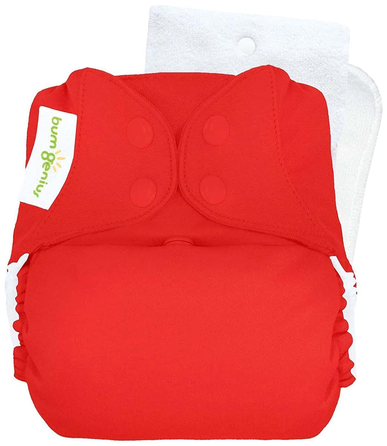 bumGenius Original One-Size Pocket-Style Cloth Diaper 5.0 (Pepper)