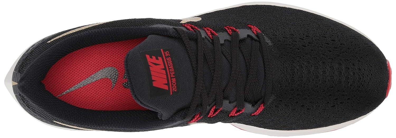 Nike Air Zoom Pegasus 35 Sz 12 Mens Running BlackMetallic Gold University Red Shoes