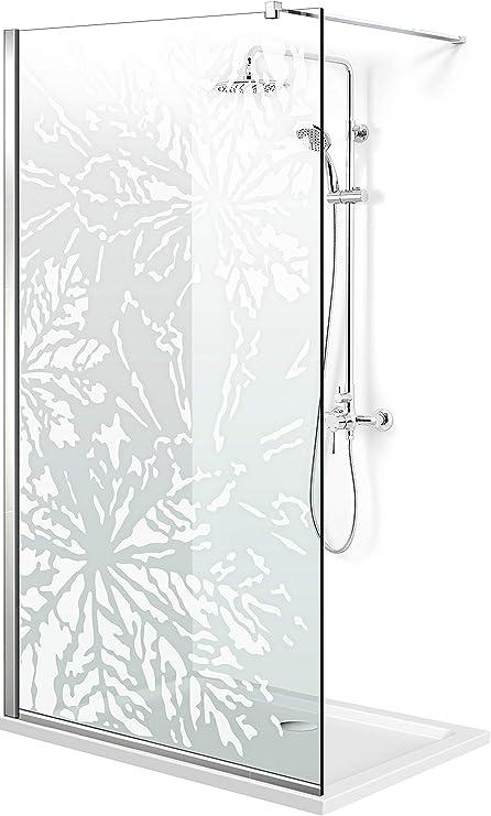 Modern Glass Art Leroy - Mampara de ducha (8 mm, cristal templado de seguridad), diseño de Leroy, blanco: Amazon.es: Bricolaje y herramientas