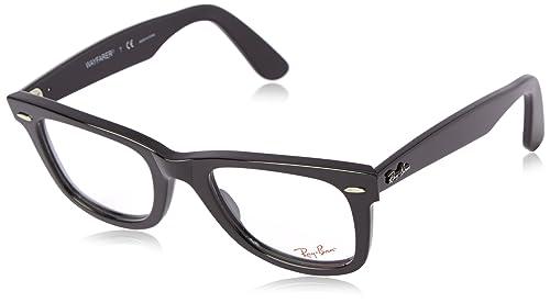 Amazon.com  Ray-Ban Unisex RX5121-2000 Black Frame Wayfarer Square ... eef9b0e5a3b3