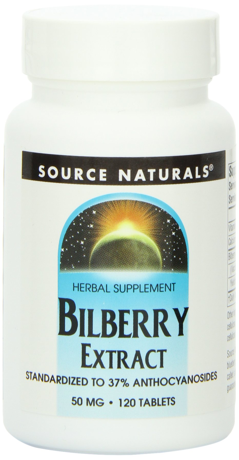 Source Naturals Bilberry Extract 50mg, 120 Tablets