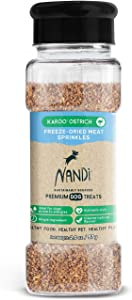 Nandi All-Natural South African Freeze-Dried Organ Meat Sprinkles for Dogs, 2 oz - Single Ingredient Food Topper, Grain Free