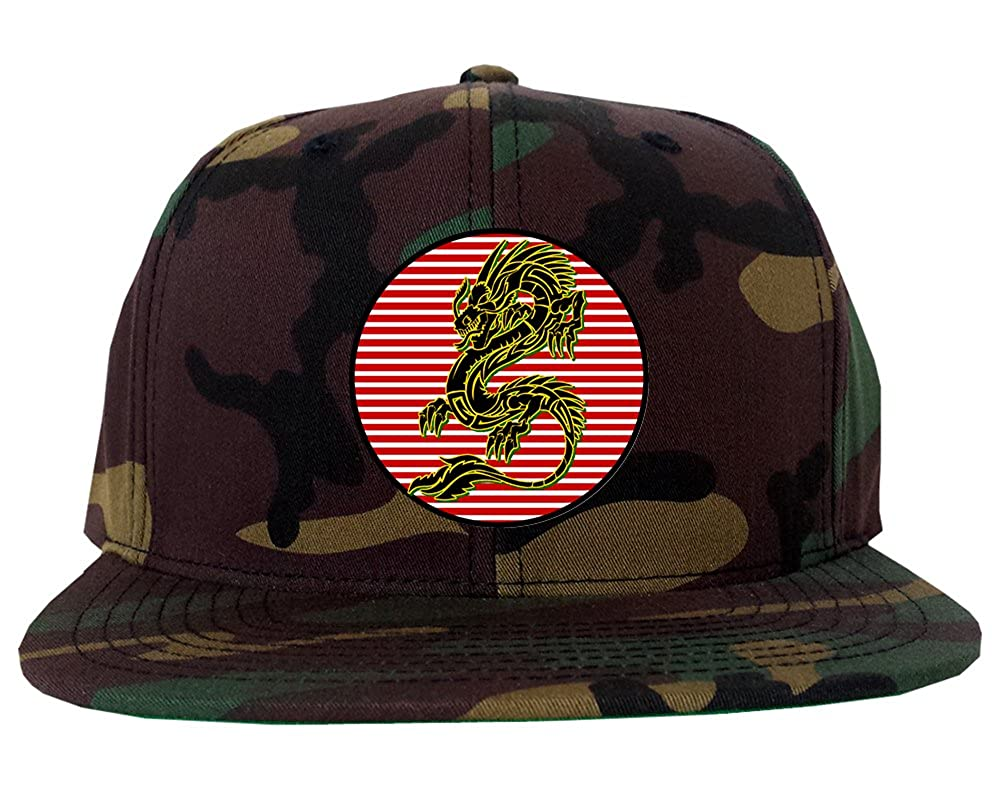 370e33244cdc4 Japanese Dragon Red Sun Mens Snapback Hat Black at Amazon Men s Clothing  store