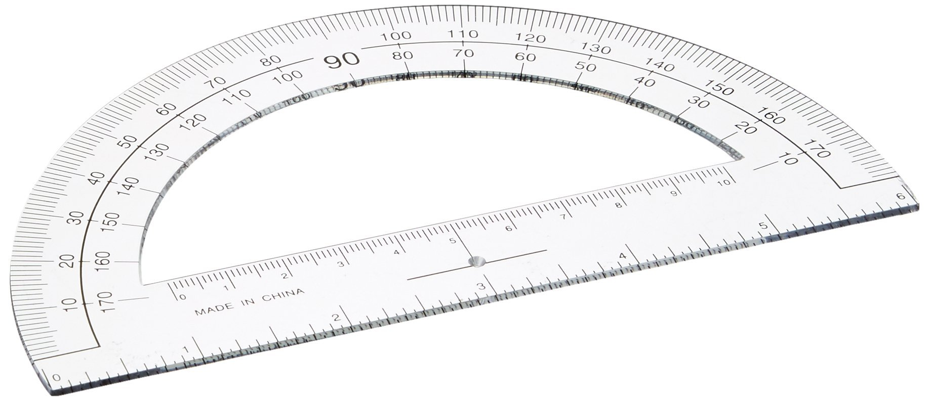 Sparco Plastic Protractor, 6-Inch Long, Clear (SPR01490)