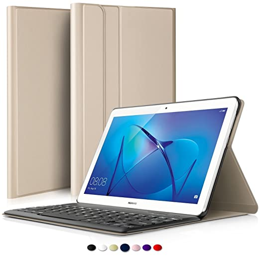 4 opinioni per IVSO Huawei MediaPad T3 10 QWERTY Bluetooth Tastiera Portfolio- DETACHABLE