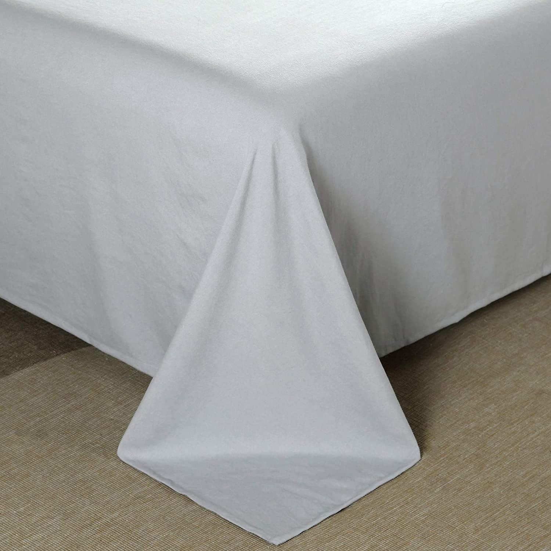 EUSIX Drap-housse 90/×190/×30CM avec poche de profondeur 30CM Drap de lit super doux en polycoton extra profond Pas de taies doreiller Gris