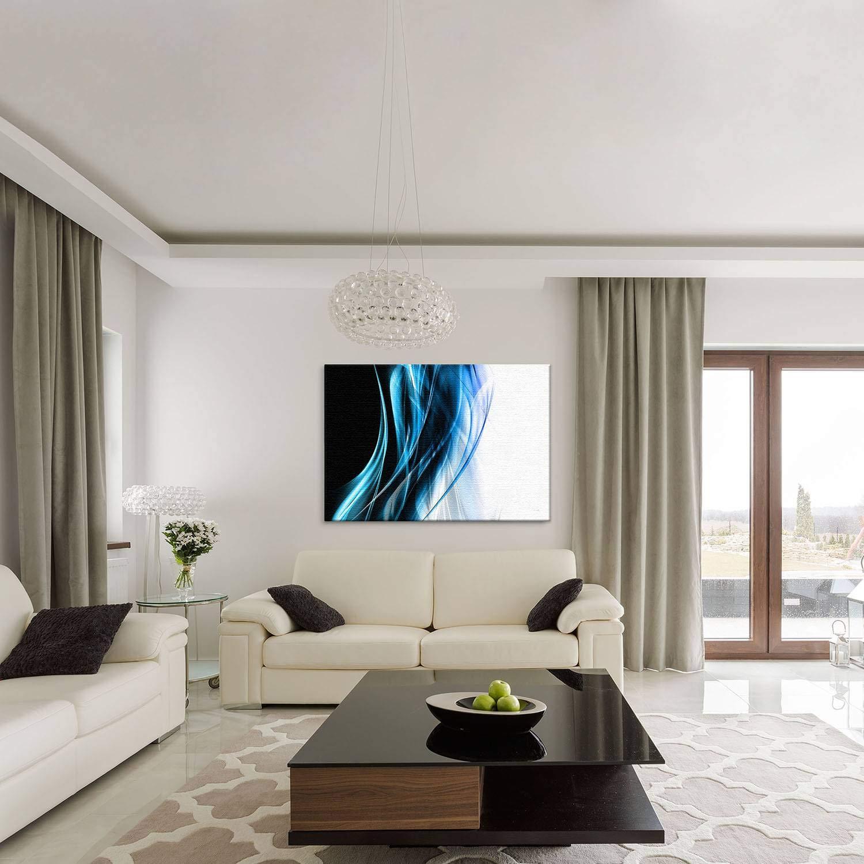LANA KK Luxus Ausführung Seele Seele Seele Blau  Abstraktes Design auf 4 cm Echtholz, Blau, 150 x 100 cm B074SXNPRJ | Good Design  2feaac