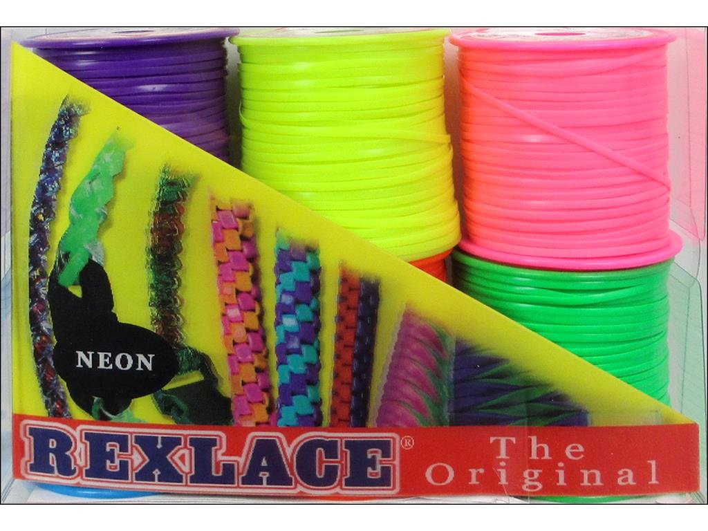 Pepperell Braiding Co PEPRX6PK.2 Pepperell Rexlace 6 Pk Neon Colors 6 Pack