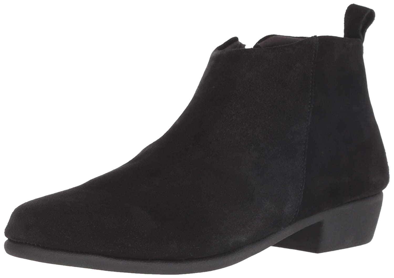 Black Suede Aerosoles Womens Step It Up Ankle Boot