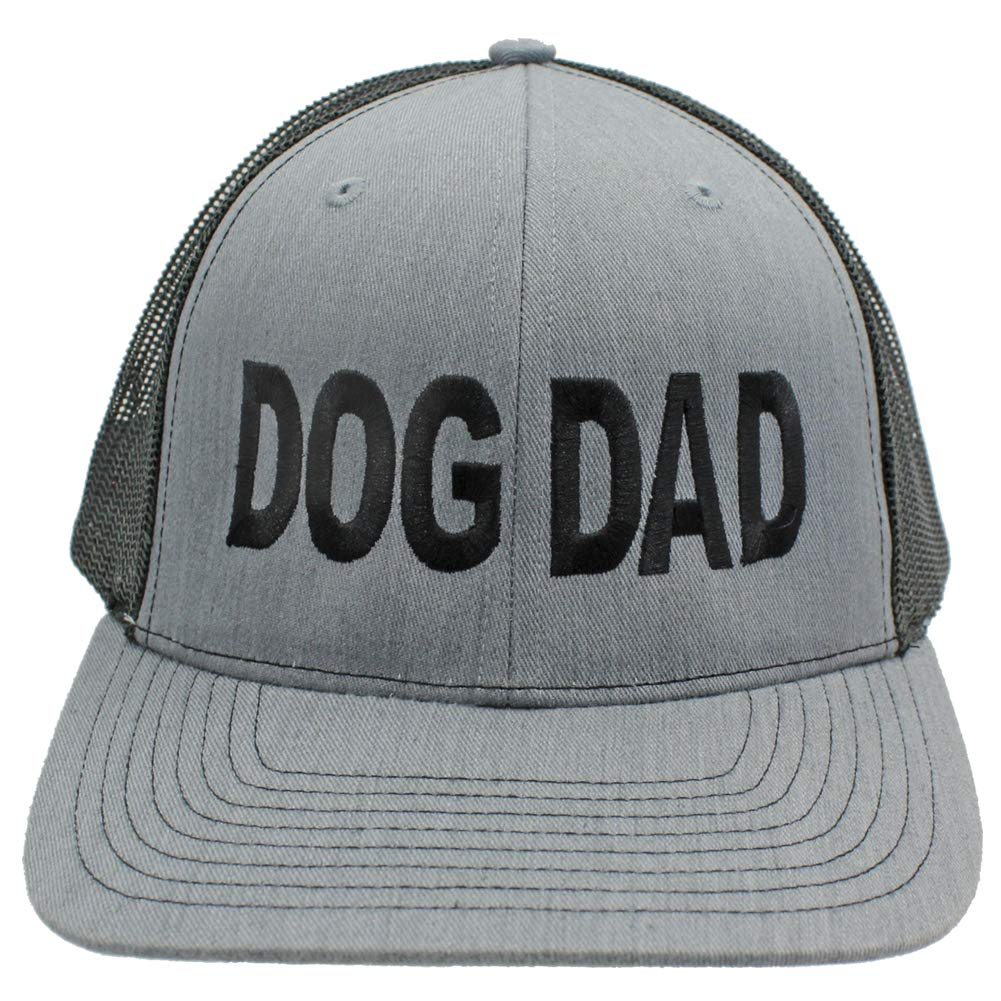 76dc566d4b3a6 r2n fashions Dog Dad Embroidered Trucker Style Hat Baseball Cap (Grey Black)
