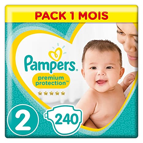 Pampers - New Baby - Couches Taille 2 (4-8 kg) - Pack 1 mois (x240 couches)