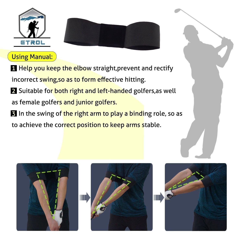 ETROL Golf Swing Training Aid Practicing Guide - Golf Swing Arm Band Training Aid - Gold Training Set by ETROL (Image #6)