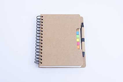 Amazon Com Seawind Spiral Notebook Kraft Paper Lined Notebook With