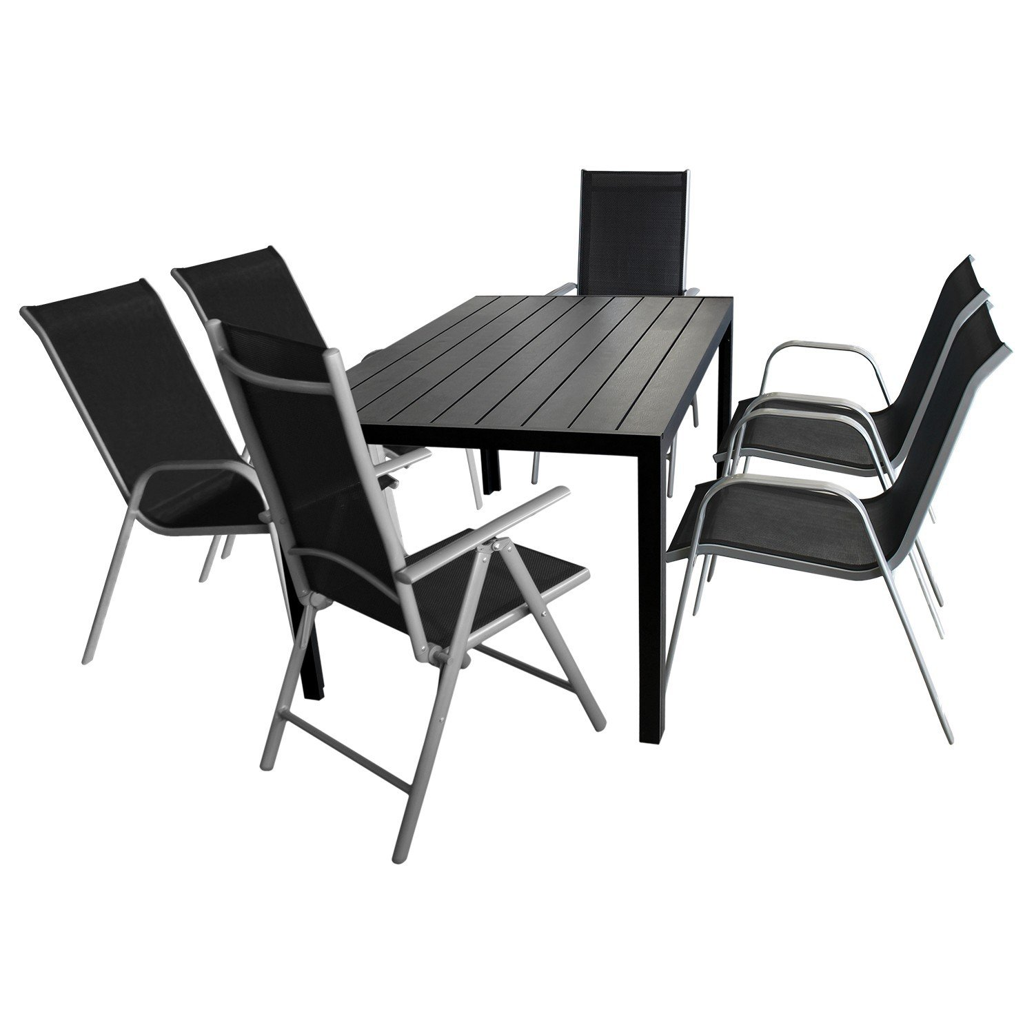 gartenm bel set 7 teilig sitzgarnitur sitzgruppe gartengarnitur terrassenm bel gartentisch. Black Bedroom Furniture Sets. Home Design Ideas