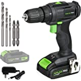 GALAX PRO 2-Speed Compact Drill 20V MAX Lithium-Ion Drill/Driver, 3/8'' Electric Drill with 19+1 Torque Setting, 1.3 Ah…
