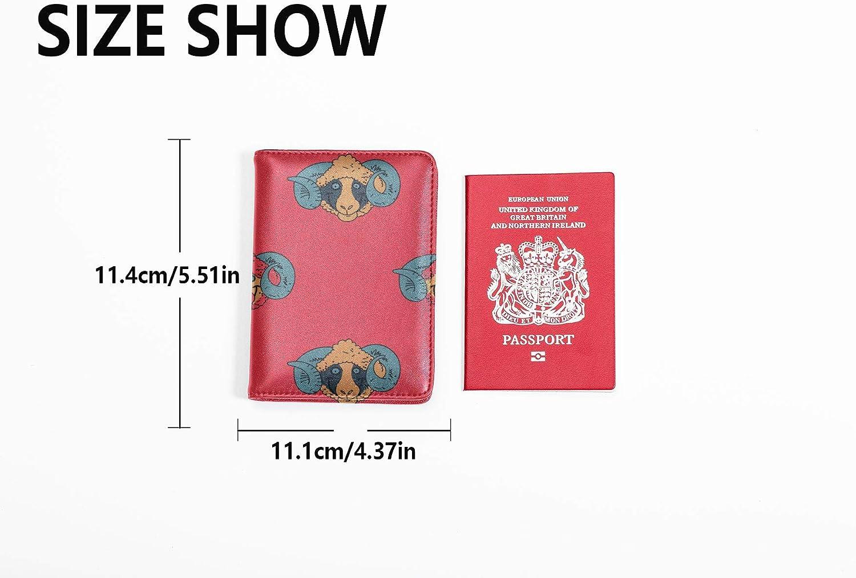 Passport Cover Set Cute Funny Naturel Wild Animal Sheep Case Passport Multi Purpose Print Usa Passport Case Travel Wallets For Unisex 5.51x4.37 Inch