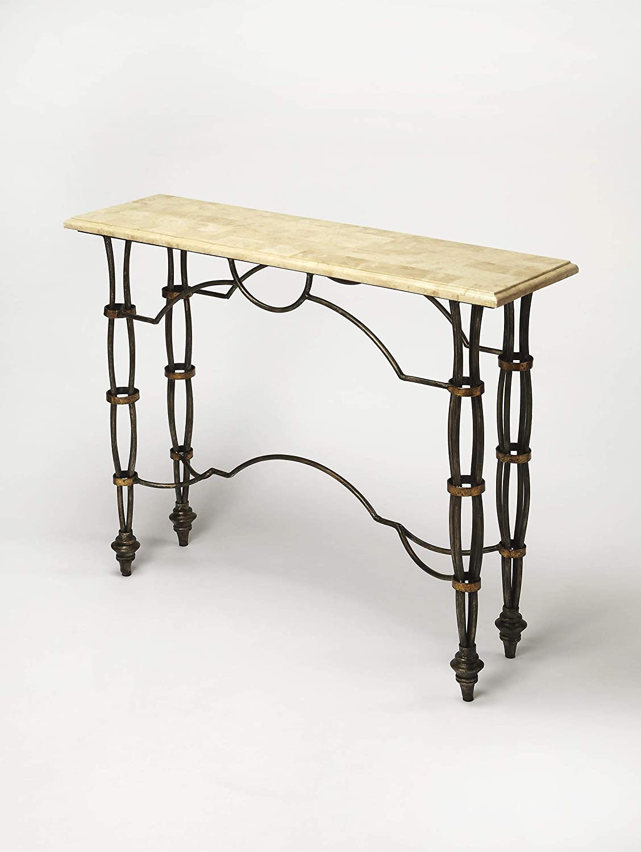 Amazon.com: BUTLER 3721025 GIRONA FOSSIL STONE CONSOLE TABLE ...