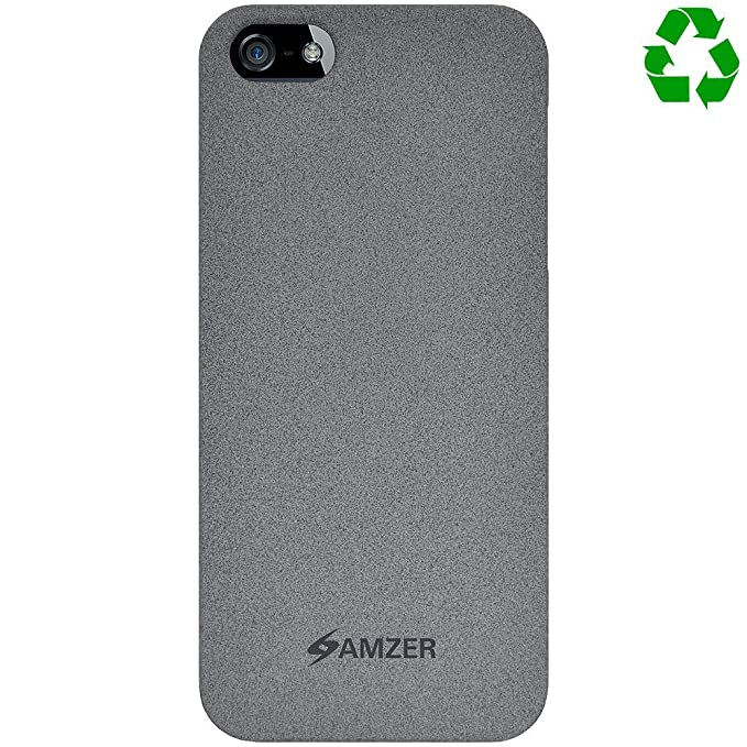 Amzer - Carcasa reciclada para iPhone 5, color gris: Amazon ...