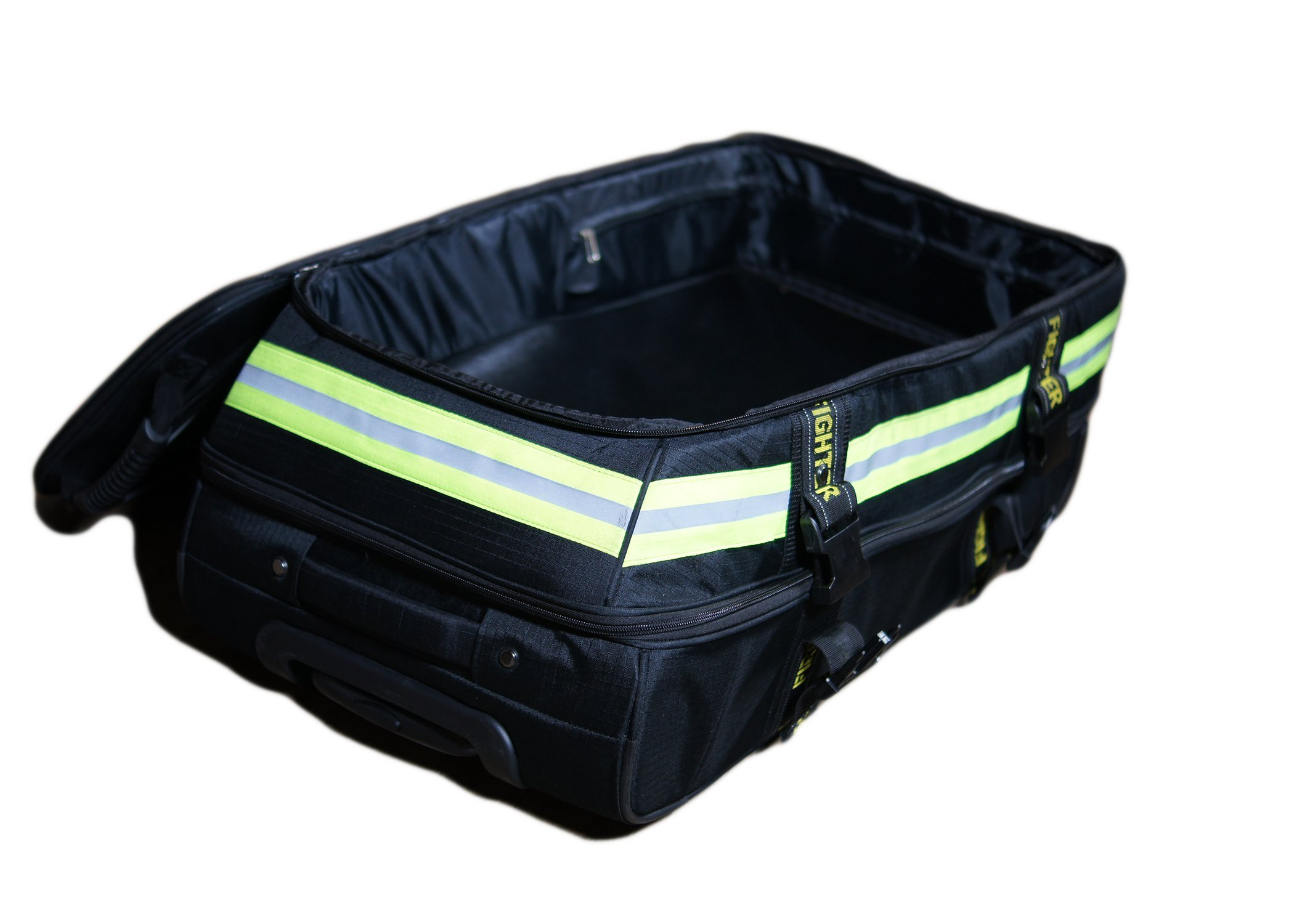 Fireflex Firefighter Rolling Travel Bag (Black) by Firefighters Merchandise (Image #3)