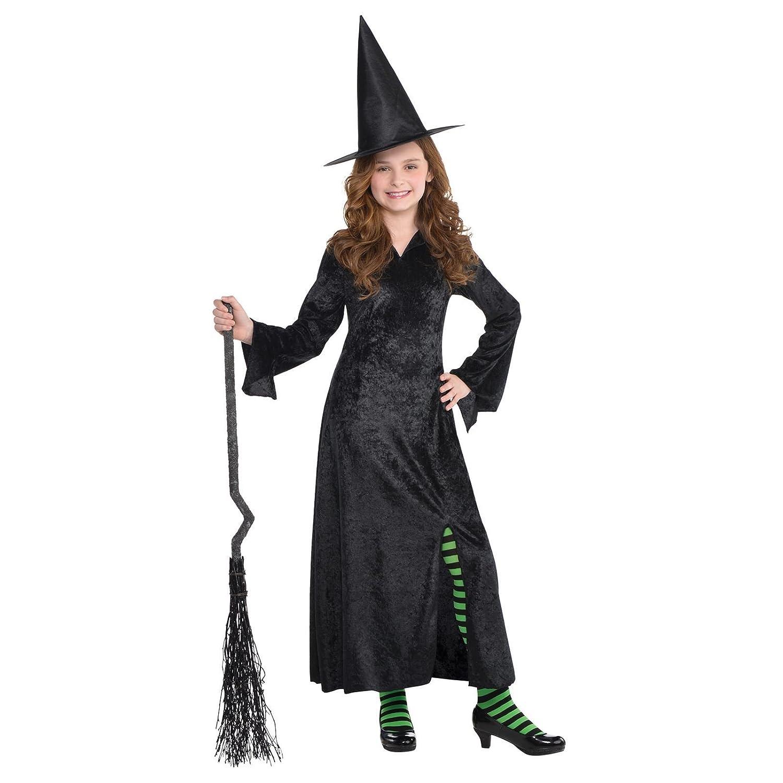 WITCH CAPE TODDLER GIRLS FANCY DRESS HAT BAG HALLOWEEN CHILDREN COSTUME 2-4