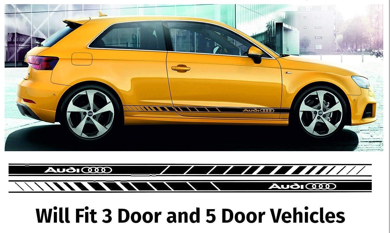 SUPERSTICKI Opel Vauxhall Adam Seitenstreifen Racing Stripes Rallyestreifen Sport beidseitig Aufkleber Autoaufkleber Tuningaufkleber Hochleistungsfolie f/ür alle glatten Fl/ächen UV und Waschan