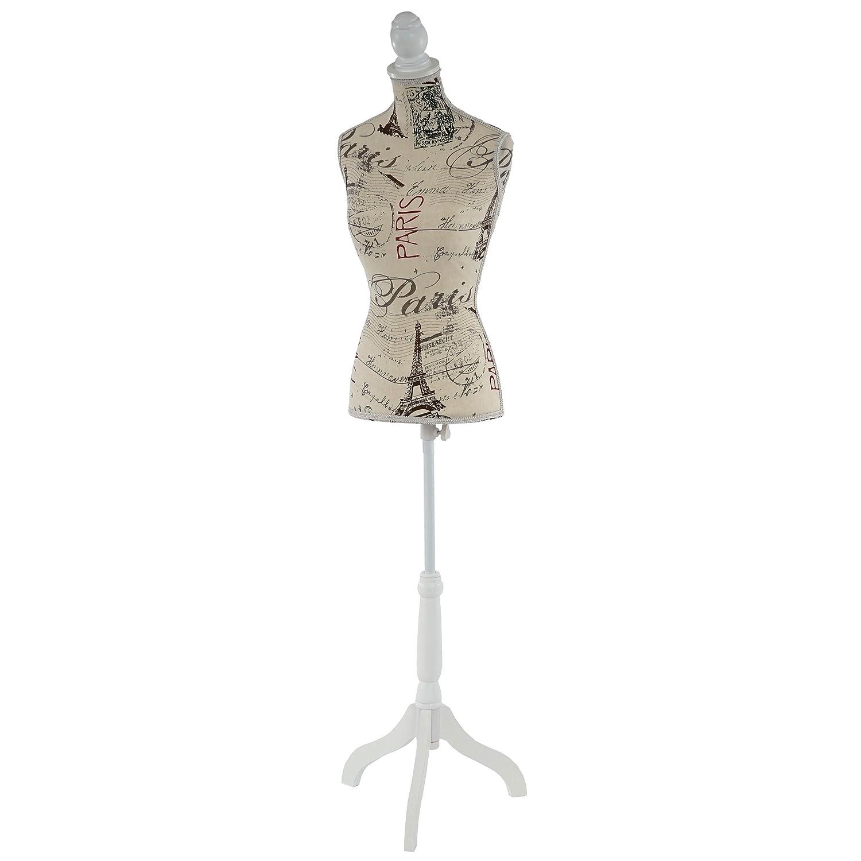 Manichino sartoriale busto donna T220 fibre di poliestere con treppiede ~ parigi Mendler