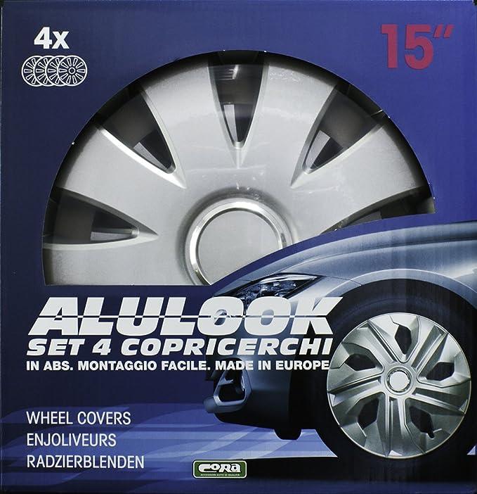 4 Unidades CORA 40343 Alulook Aura Ring Box Tapacubos 13