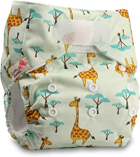 Littles /& Bloomz Fastener: Hook-Loop with 2 Bamboo Inserts Set of 1 Pattern 59 Reusable Pocket Cloth Nappy