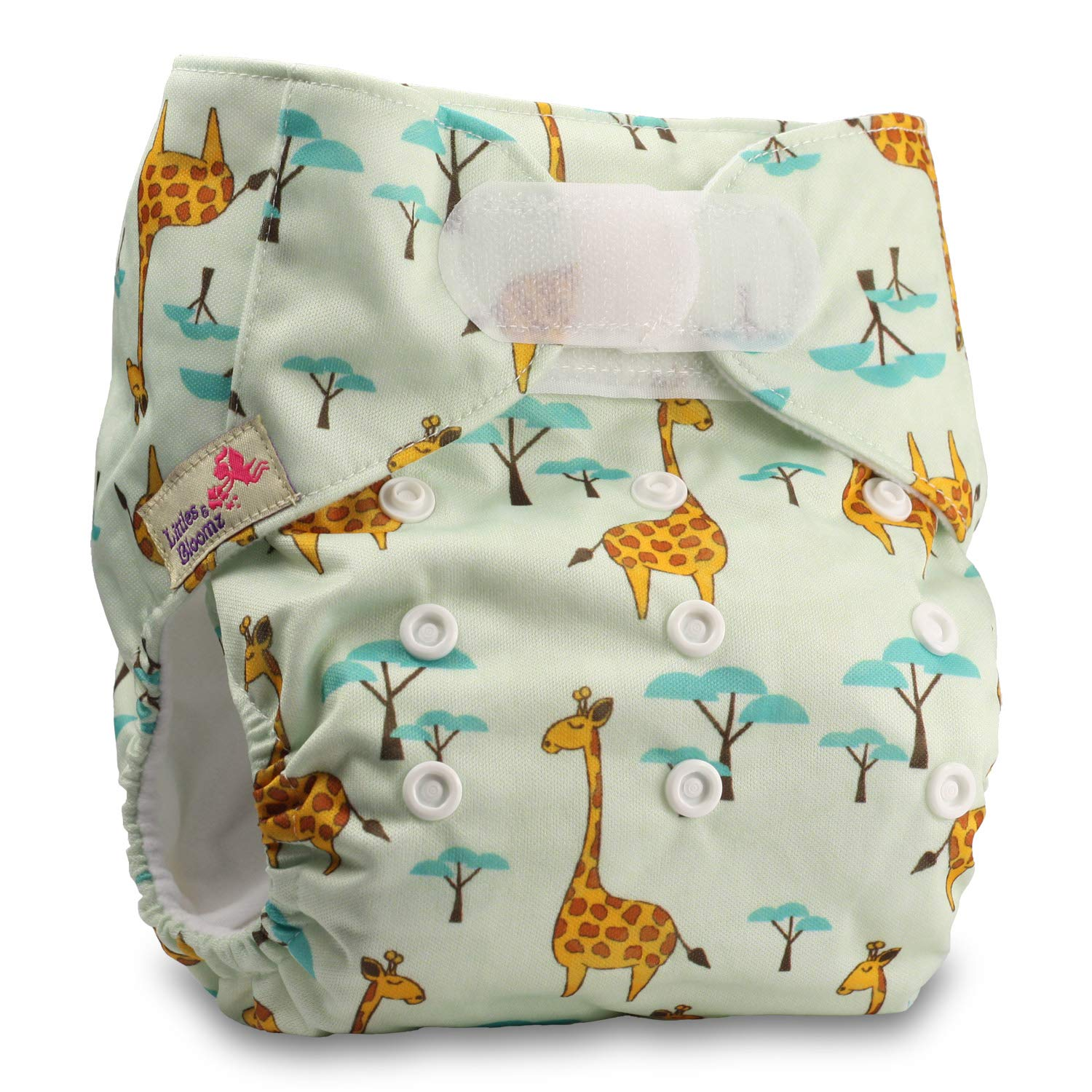 with 2 Microfibre Inserts Set of 1 Fastener: Hook-Loop Littles /& Bloomz Pattern 51 Reusable Pocket Cloth Nappy