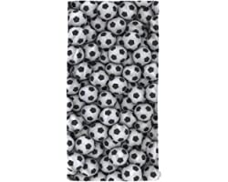 oFloral Hand Towels Cotton Washcloths Cool Soccer Ball Art Amazing Football Pattern,Comfortable Soft Towels for Bathroom Spa