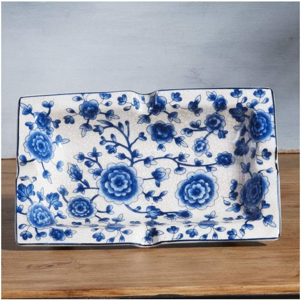 灰皿, 銅の装飾的な灰皿クリエイティブホームオフィスと灰皿新中国の青と白の陶磁器