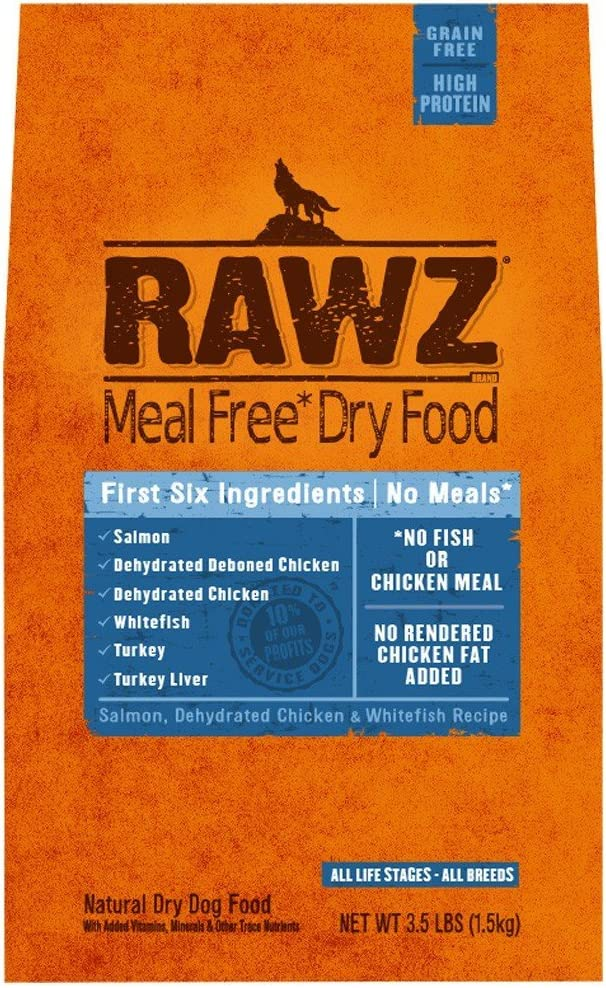 Rawzreg; Meal Free Dry Dog Food Salmon, Dehydrated Chicken Whitefish Recipe (3.5 Lb)