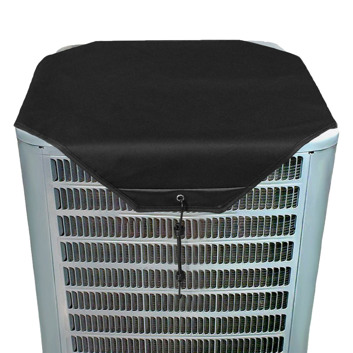 YELYEH AC Unit Cover - Conditioner Winter Waterproof Top Air Conditioner Leaf Guard Air Conditioner Cover (Black, 28X28) HAOYOUPIN