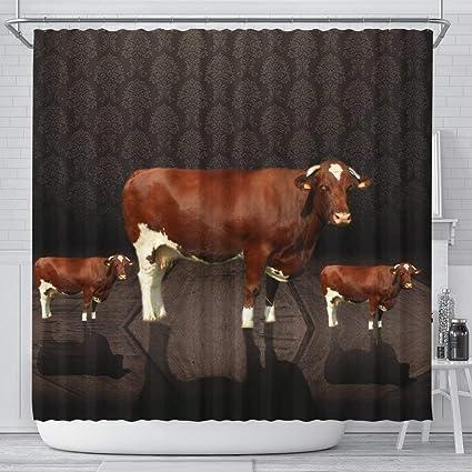 Amazon Pawfeel Amazing Maine Anjou Cattle Cow Print Shower