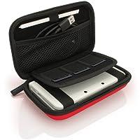 igadgitz Rot EVA Hart Tasche Schutzhülle fur Neu Nintendo 3DS Etui Case Cover mit Tragegurt (NICHT FÜR 3DS XL)