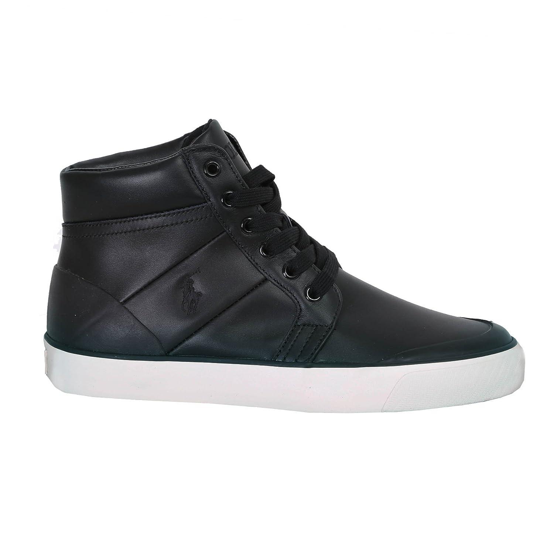 Ralph Lauren Polo Isaak Herren Stiefel Stiefel Stiefel Leder schwarz a6731f